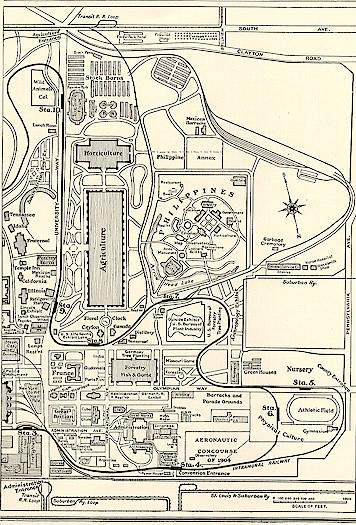 map of west part of fairgrounds