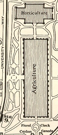 Agriculture palace map