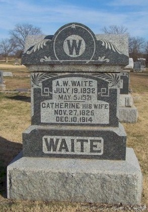 Graves of Alexander and Catherine Waite